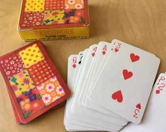 Miniature PATCHWORK Playing Cards Hallmark 1970s