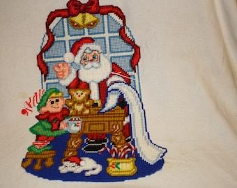 Santa's workshop wall hanging
