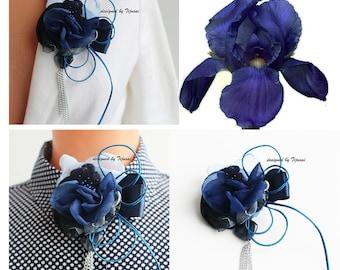 Irris-pin-brooch-women accessory, fiber jewelry