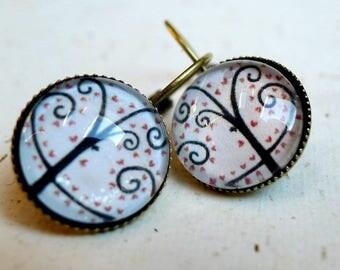 Earrings, tree of hearts BO001