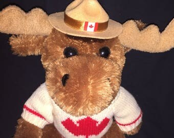 Vintage Canadian Stuffed Moose