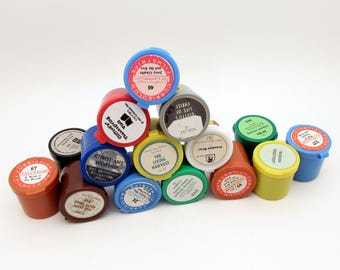 Instant Collection - 5 Vintage Film Strips Grab Bag - vintage filmstrips - vintage classroom - organization containers