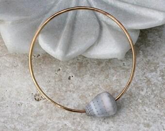 On Sale 50% Off Island Elegance Cone Shell Bangle, 14k Gold filled Bracelet, 14 karat gold fill, Stacking Stackable Bracelet, Ocean Summer R