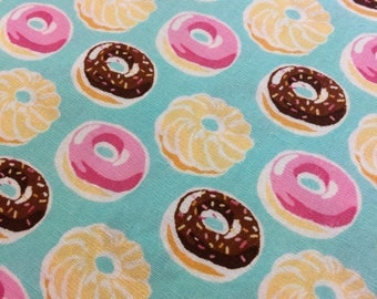 Donuts in mint green pink vanilla chocolate Sevenberry Japanese cotton fabric