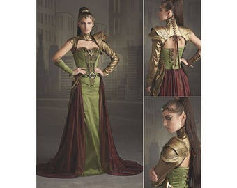 Simplicity Pattern 8363-Ranger Costume,Game of Thrones, Lord of the Rings Size 6-14