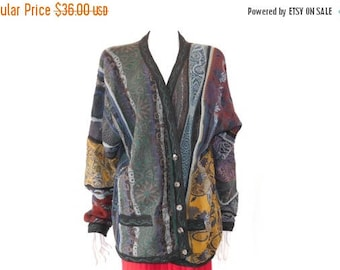 Summer Sale Vintage Neiman Marcus Cardigan // Fall Colors Cardigan // Multi Color Cardigan // 120