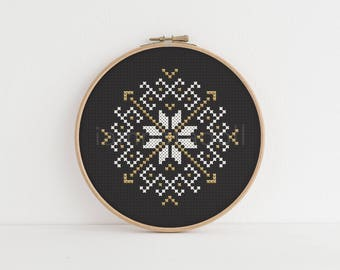 Morning Star - a modern counted cross stitch pattern
