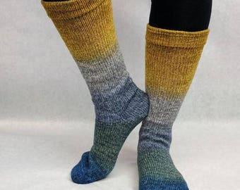 Pardon Me, Sir Panoramic Gradient Matching Socks Set Yarn, dyed to order - pick your size, pick your yarn base