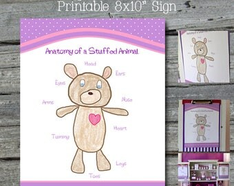 Doc McStuffins Anatomy of a Stuffed Bear - Instant Download