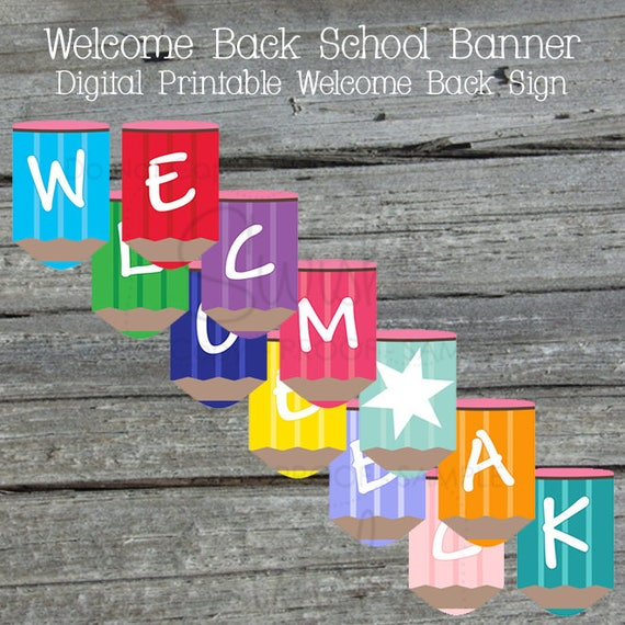 welcome back printable banner back to school sign teacher welcome