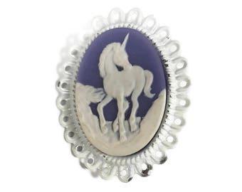 Unicorn Cameo Pin