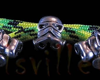 4 Zombie Hunter Gas Mask Skull Beads / Paracord, Leather, Jewelry