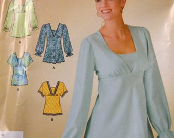 Sewing Pattern Simplicity 3842 Misses' Tops Size 8-18 Bust 30-40 inches   Complete Uncut
