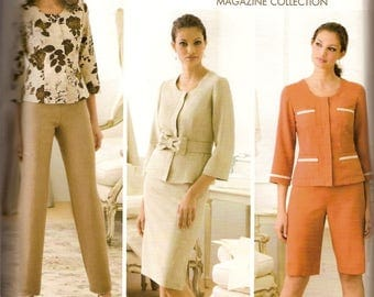 Simplicity 3845 Misses' Jacket Skirt Pants Sewing Pattern  Full Figure Size 16-24 Bust 38-46 inches Uncut  Complete