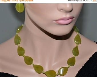 Jade Necklace,  OOAK  Jewelry,  Gemstone Necklace,  Mother's Day Gift,  FREE Earrings