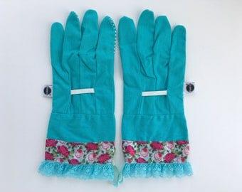 designer gardening gloves. Designer Garden Gloves  Pretty Pink Spring Roses Fancy Blue Work for Women Gardening gloves Etsy