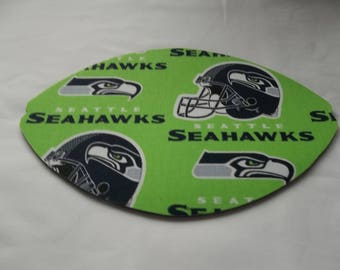 Mouse Pad, NFL, Seattle Seahawks, Lime Green,  Mouse Pads, Desk Accessories, Mouse Mat, Office Decor Football Shape Computer Mouse Pad, Gift