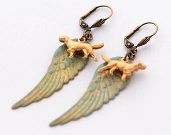 Golden Retriever Earrings, Labrador Earrings, Dog Earrings, Dog Lover Gift, Dog Charm Jewelry, Pet Lover Gift, Dog Sympathy Gift, Pet Loss