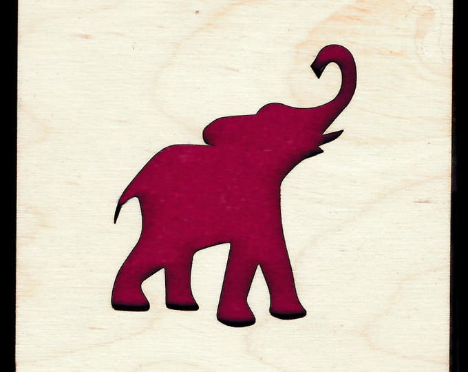 4 ELEPHANT Coasters wooden laser cut natural eco-friendly Waterproof plywood birch and Felt