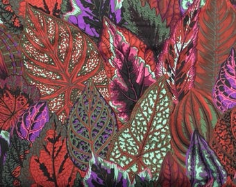 "2 yards New design Coleus in ""dark"" from the Kaffe Fassett Collection"