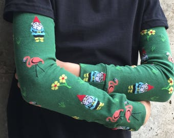 Gnome and Flamingo Leg Warmers for Baby, Toddler, Kid, Tween - Arm Warmers for Kid, Tween - Boy or Girl - Birthdays, Baby Showers, Costumes