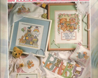 Just for Baby, Good Natured Girls, 101 Designs, Cross Stitch Patterns, Alphabet, Numbers, Pictures, Sewing Patterns, Sewing Supplies, gifts