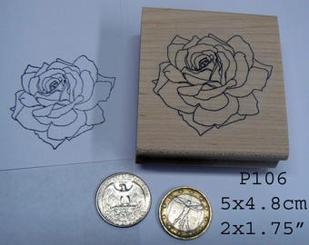 P106 Rose rubber stamp