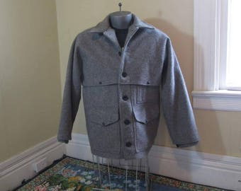 Vintage Filson double Mackinaw Cruiser Made in USA Gray Cruiser Wool jacket Outdoor hunting jacketL sz 42