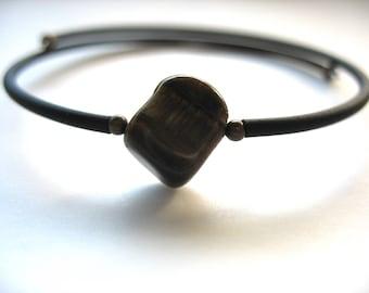 Tigereye Bracelet, Tigereye Stone Bracelet , Handmade Stone Cuff Birthstone Bracelet Jewelry