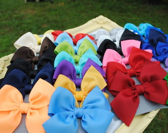 """Choose 25 Colors - Gift to Match Sew Sassy Icings - 3.5"""" Half Pinwheel Bows - Summer Hair Clips - M2M Hairbows for Girls - Toddler Hair Bows"""