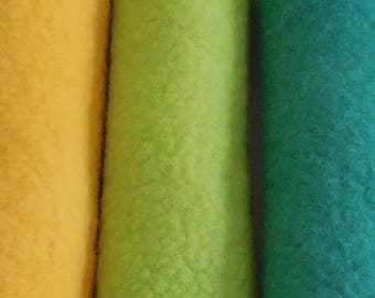Wool Felt / 100% Merino Wool / Spring green / Choice of Felted Sheets or prefelt sheets / hand dyed and felted