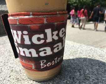 What's Up Your Sleeve Fabric Reusable Ice Coffee Sleeve Wicked Smart