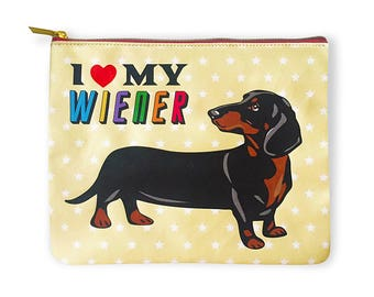 I Love My Wiener Amenity Bag