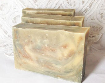 Goat Milk Soap, Cabin, Woods, Cinnamon, bayberry, pine, Father's Day gift, Handmade soap, Cold Process soap, Moeggenborg Sugar Bush