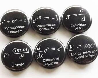 Math Magnets coworker gift back to school arithmetic science formulas fridge teacher student locker decoration home decor kitchen geek men