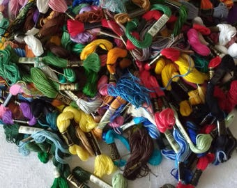DMC Design for the Needle Prism Embroidery Floss Multi-color Lot Group