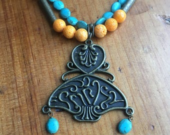 Orange Sponge Coral Necklace   Sacral Chakra