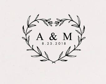 Wedding Stamp Initials, For Favors, DIY Wedding , Personalized Wedding, Favor Stamping, Wedding Monogram, Wedding Logo, For Favour Tags(281)