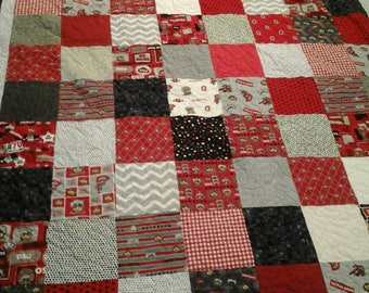 Ohio state queen size quilt