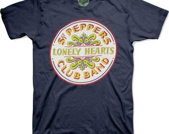 Beatles Sgt. Pepper Drum Blue Shirt     Fab Four  60s Music Lennon MrCartney Starr Harrison