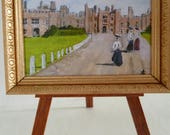 Miniature PRINT of my Original Painting  of  Hampton Court Palace. .One 12th scale