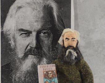 Robertson Davies Author Writer Doll Miniature Literary Art