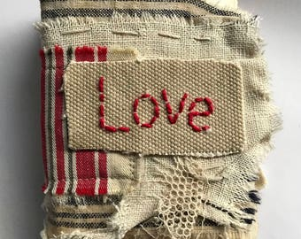 "Tutorial Online Class Handmade Mini Book....""with love"""