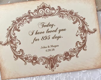 Today I have loved you wedding card, Card for Groom, Card for Bride