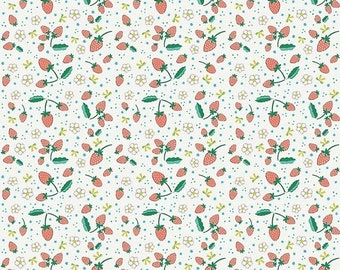 SALE Penny Rose Fabrics Bunnies and Blossoms Strawberries Cream