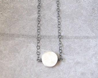 minimalist silver necklace, simple silver necklace