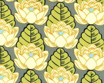 OOP Amy Butler - Lotus Pond in Ivory - by the Yard - Designer Fabric - Lotus Collection