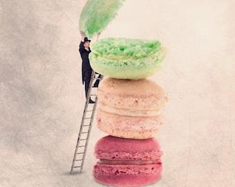 Macaron print, Paris Macaron, French Patisserie, Macaroon, Macaron, Kitchen decor, Kitchen Decor, French macaron, french macaroons