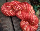 Don't Panic - 13# off - NEW hand dyed sock yarn superwash Merino wool blend 462 yards 100 grams