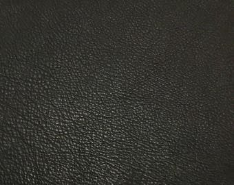 Dark CHOCOLATE BROWN cow hide Leather Piece #1 7x8""